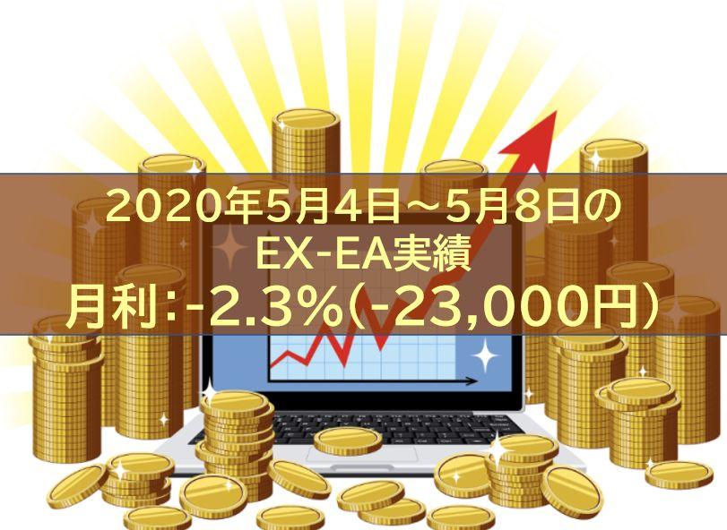 【週報】2020年5月4日~5月8日のEX-EA実績 週利:-2.3%(-23,000円)