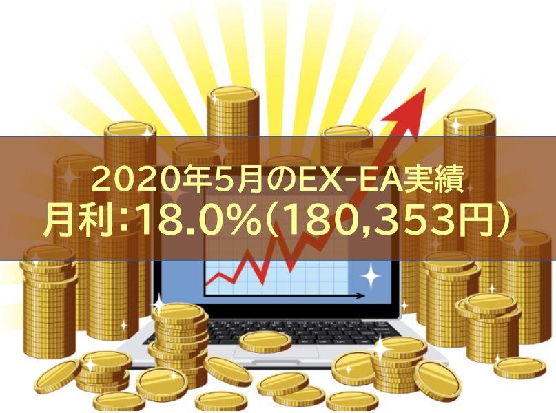 【月報】2020年5月のEX-EA実績 月利:18.0%(180,353円)